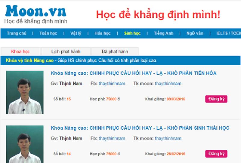 Ghi nhớ 8 trang web Toán Học phổ biến nhất Việt Nam